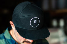 Load image into Gallery viewer, Twin Sails Black Hat with Circle Logo