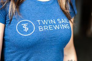 Twin Sails Straight Logo - Women's (Blue)