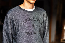 Load image into Gallery viewer, Twin Sails Crew Neck Sweater - Unisex (Dark Charcoal Heather)