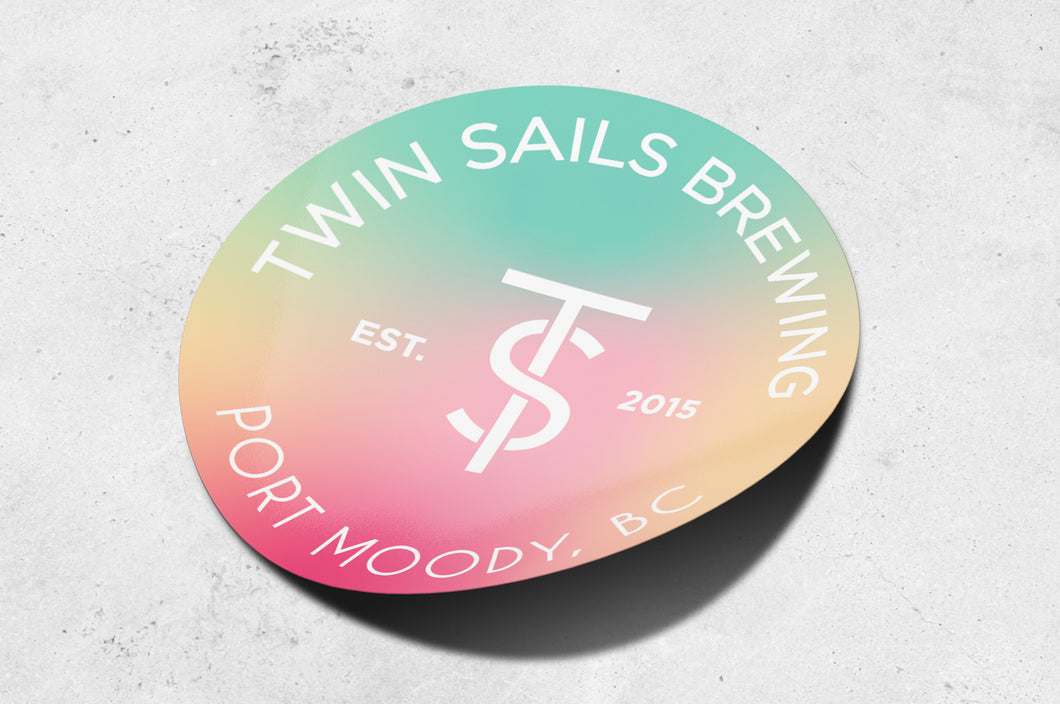 Tri-Colour Twin Sails Sticker