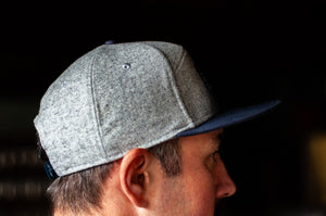 Hat - Twin Sails Coordinates Patch (Grey & Navy Blue)