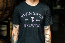 Load image into Gallery viewer, Twin Sails Arched Logo Tee - Men's (Black)