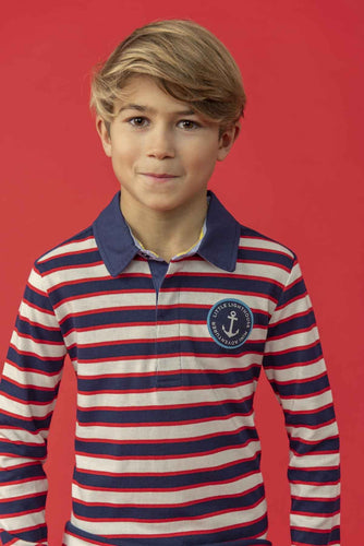 Alfie Boys Rugby Shirt Eclispe Stripe