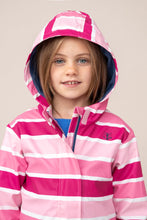 Load image into Gallery viewer, Amy Girls Coat Pink Stripe