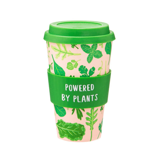 Powered by plants coffee cup