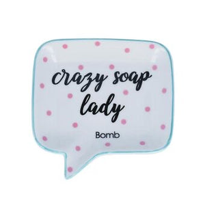 Crazy Soap Lady Dish