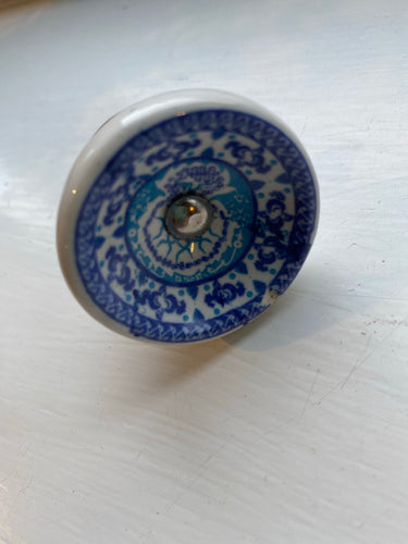 Blue Tea Service Patterned Knobs