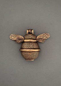 Brass Bumble Bee Door Knocker - Heritage Finish
