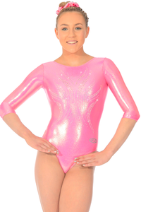 3/4 Sleeve Ice Leotard in Candy age 11-13