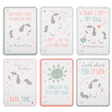Load image into Gallery viewer, Evie unicorn baby milestone cards