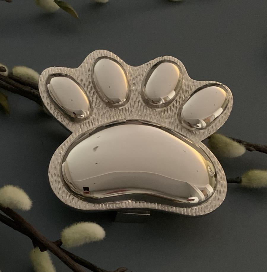 Brass Paw Door Knocker - Nickel finish
