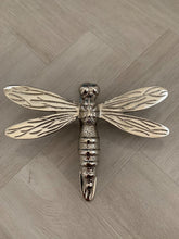 Load image into Gallery viewer, Brass Dragonfly Door Knocker - Nickel Finish