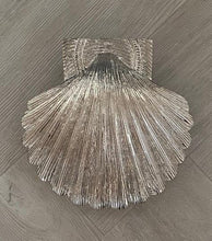Load image into Gallery viewer, Brass Shell Door Knocker - Nickel Finish