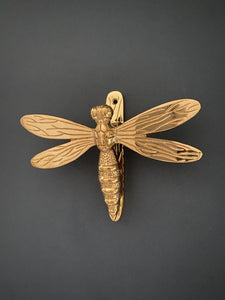 Brass Dragonfly Door Knocker - Brass Finish