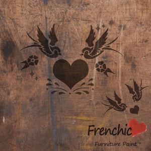 Frenchic Stencil Swallows in Love