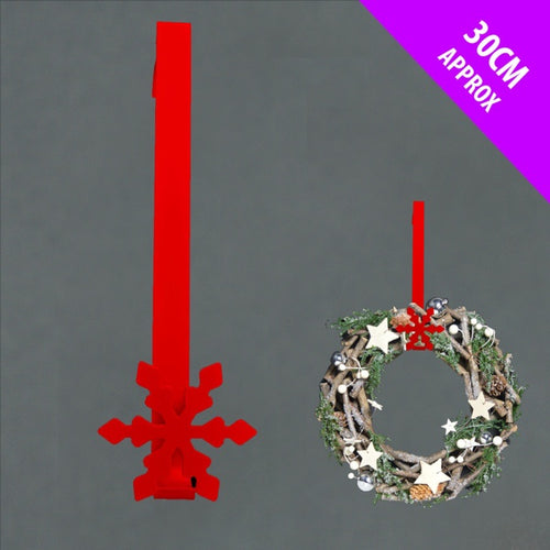 Snow Metal wreath hanger