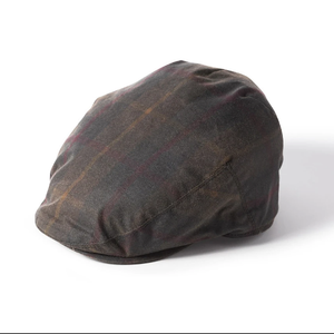 Failsworth wax flat cap Hunter Brown 7 57cm