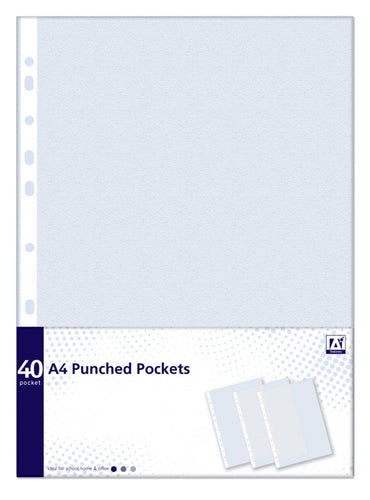 A4 Punched Pockets - 40
