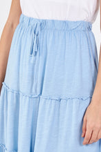 Load image into Gallery viewer, MIDI Tiered Skirt - Sky Blue