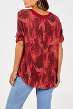 Load image into Gallery viewer, Jane Camouflage Top with necklace