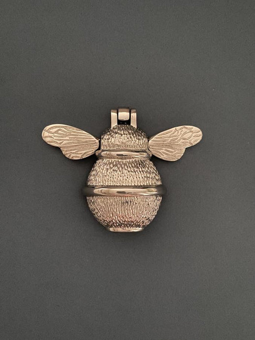 Brass Bumble Bee Door knocker  - Nickel Finish