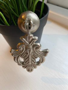 Ornate Silver Leaf Pulls