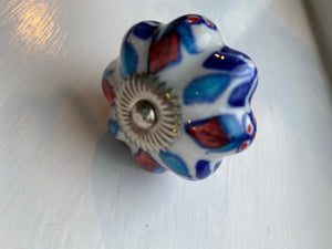 Vintage Style Red and Blue Knobs