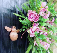 Load image into Gallery viewer, Brass Bee Door Knocker - Rose Gold Finish