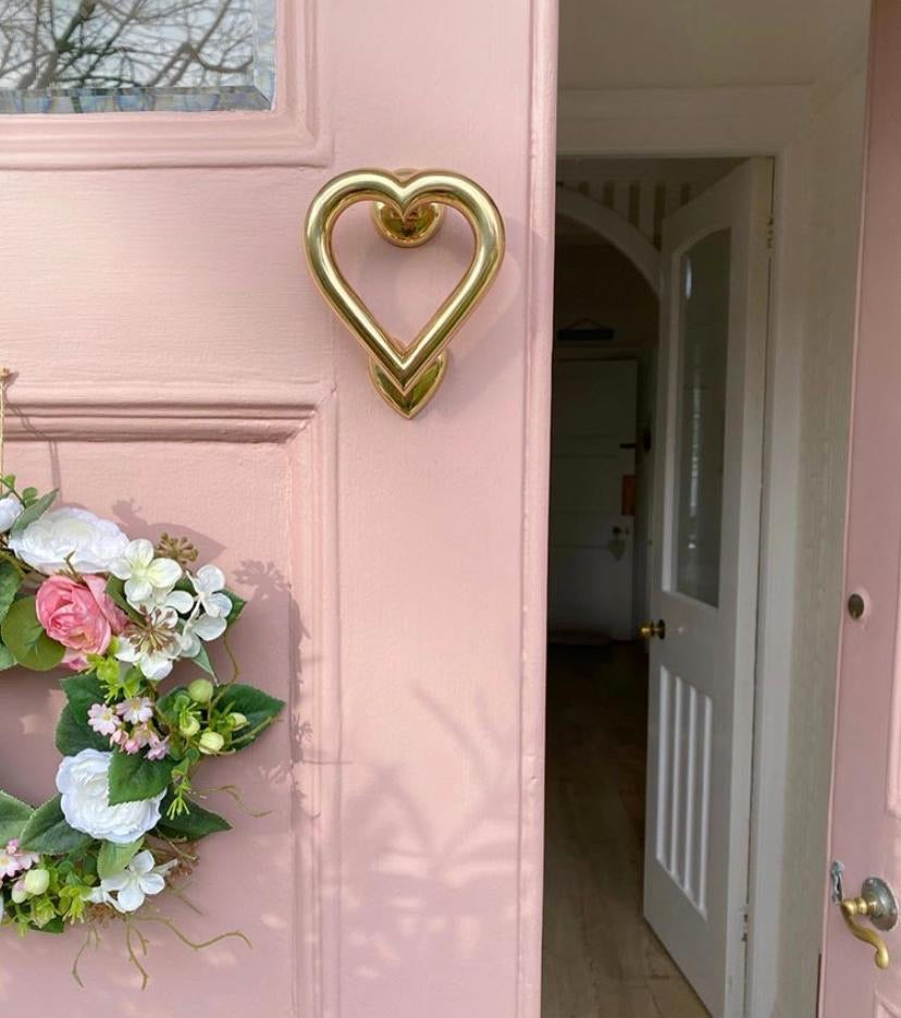 Brass Love Heart Door Knocker - Brass finish