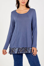 Load image into Gallery viewer, Leah Chiffon Hem Top
