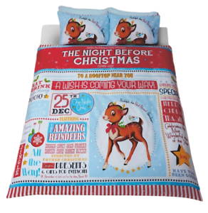 Night before Christmas bedding - double