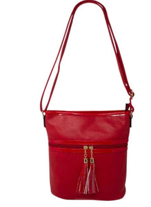 Tassel Crossbody Bag Red