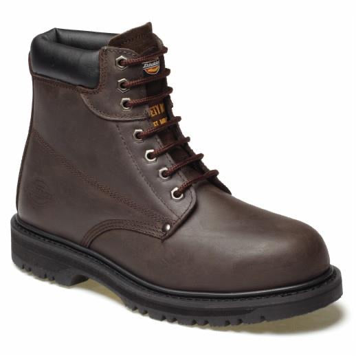 Dickies Cleveland Boots Dark Brown - Size 12
