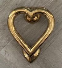 Load image into Gallery viewer, Brass Love Heart Door Knocker - Brass finish