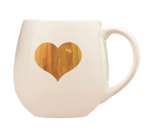 Load image into Gallery viewer, Gold heart mug
