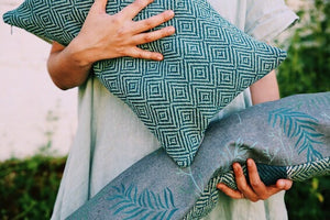 Hand Woven and Hand Printed Pillows
