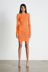 YS405 PERFORATED DRESS