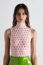 Load image into Gallery viewer, YS120 PERFORATED SLEEVELESS TURTLENECK