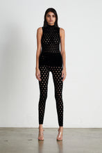 Load image into Gallery viewer, PERFORATED SLEEVELESS TURTLENECK