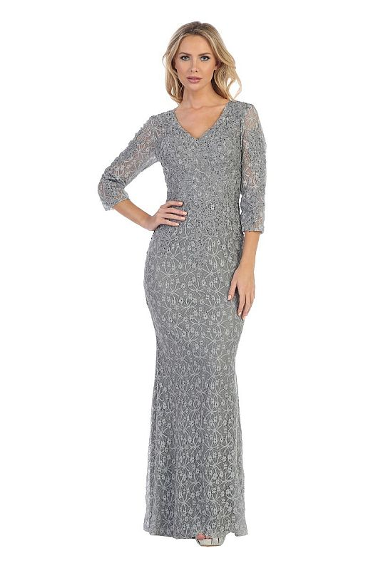 Let's Size 3XL 7336M Silver Mother of Bride Dress