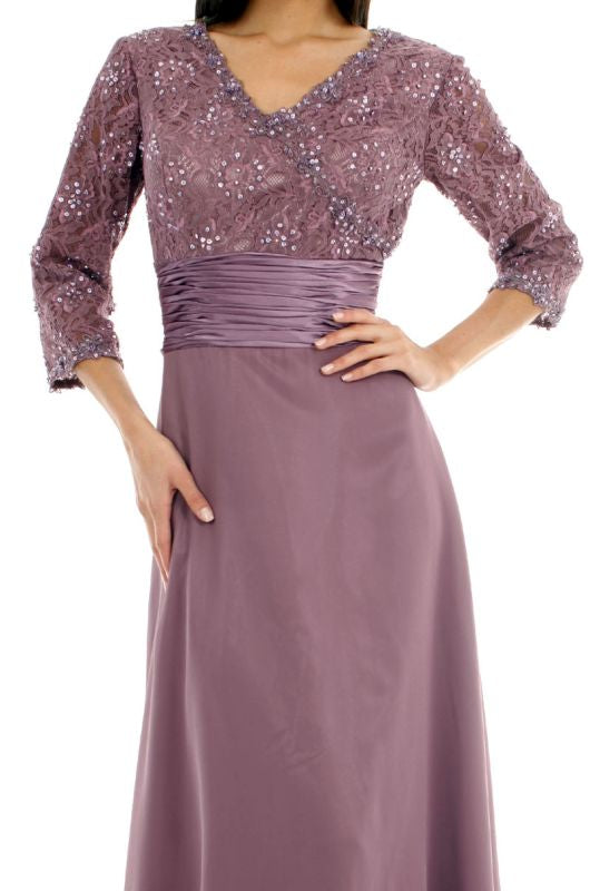 Night Scene Size 4X ET300 Violet Mother of Bride Dress