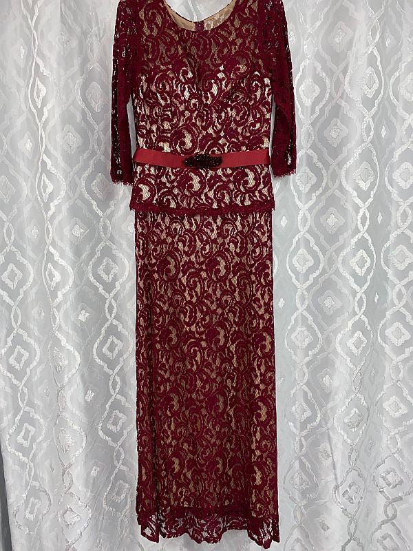 Eva Size L 3169 Burgundy Mother of Bride Dress