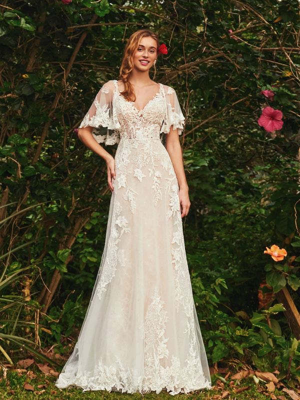Size 10 L'amour LA20220 Ling Ivory/Ivory Gown