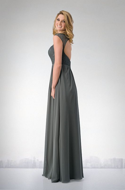 Kanali K Size 8 1701 Charcoal/Charcoal Bridesmaid Dress