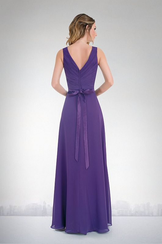 Kanali K Size 14 1693 Plum Bridesmaid Dress