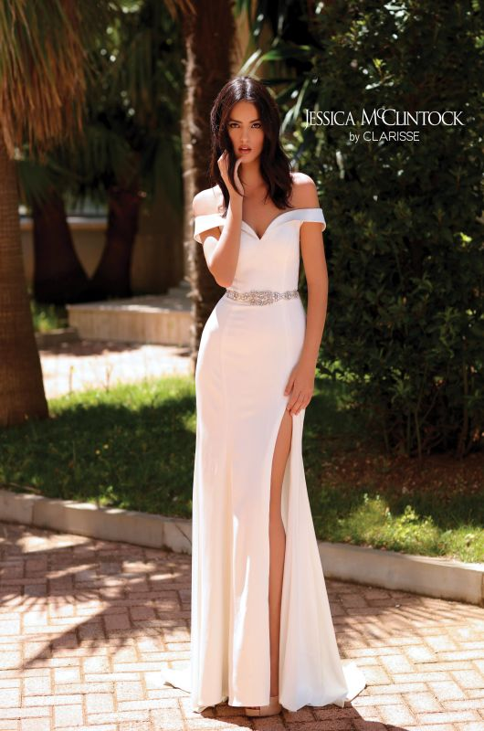 Jessica McClintock Size 14 700110 Ivory Gown