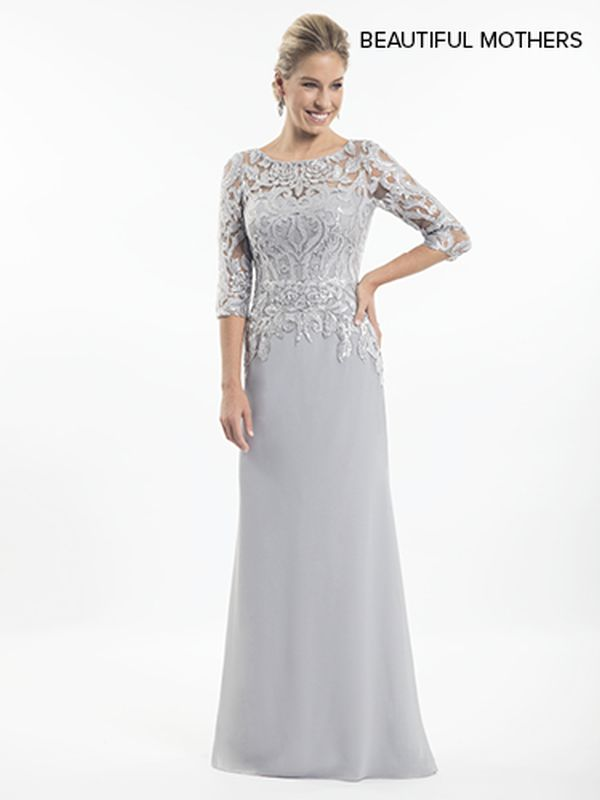 Mary's Bridal Size 20 MB8011 Platinum Mother of Bride Dress