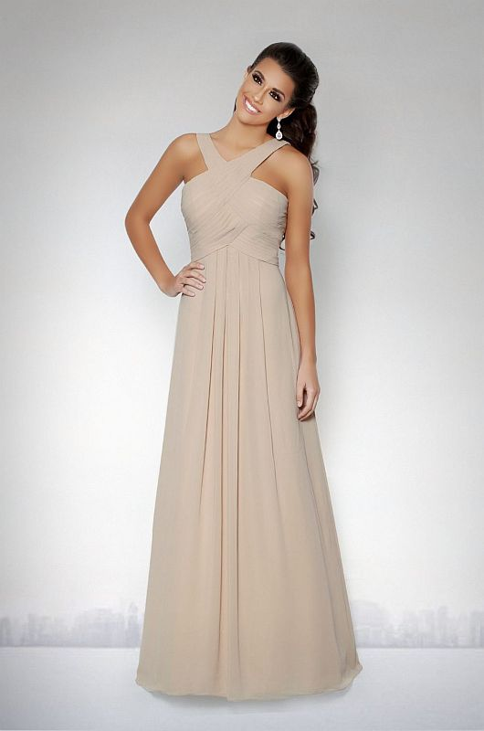 Kanali K Size 14 1758 Mocha Bridesmaid Dress