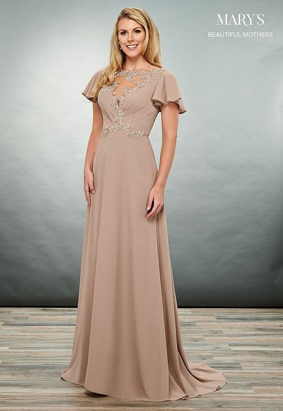 Mary's Bridal Size 16 MB8071 Mocha Mother of Bride Dress
