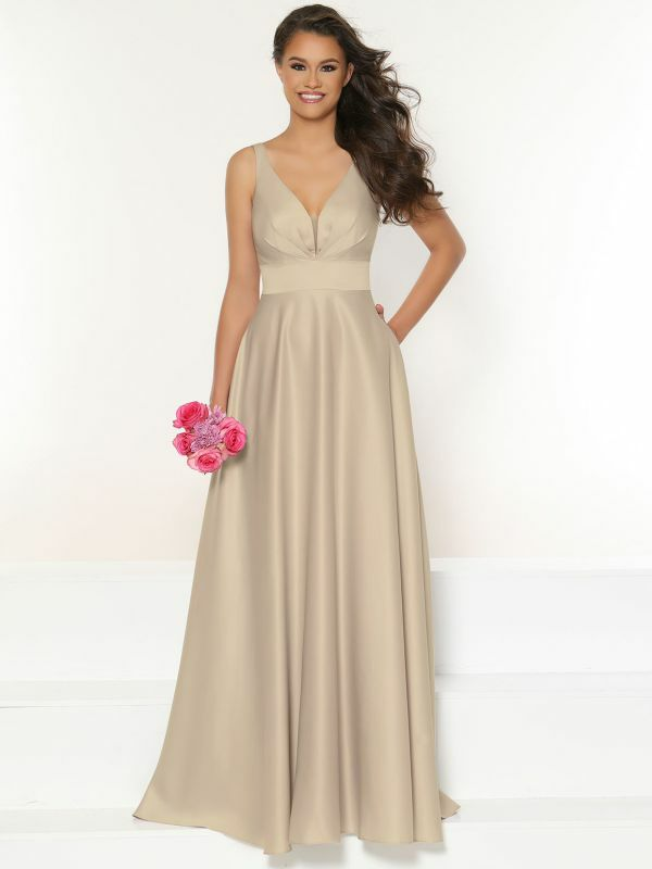 Size 18 Kanali K 1823 Mocha Bridesmaid Dress